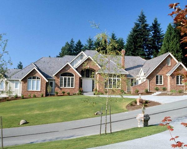 园林别墅图片-园林图 三角形屋顶