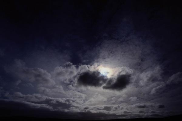 自然风景-天空变幻 深夜 暗淡 天空