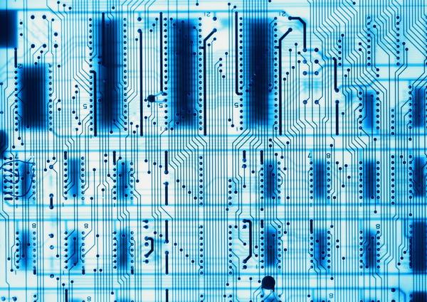 芯片主板图片-科技图 线路板