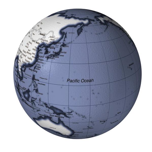 球太平洋 地球仪 地球模型 地