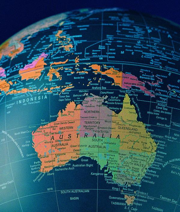 澳大利亚地图 世界地图 经纬线
