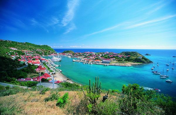 观光度假图片 世界风光图 海湾 长空 山顶 俯视 港口,世界风光,观光