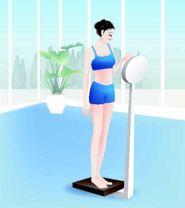 瘦身 体重 健身-卡通人物-卡通人物