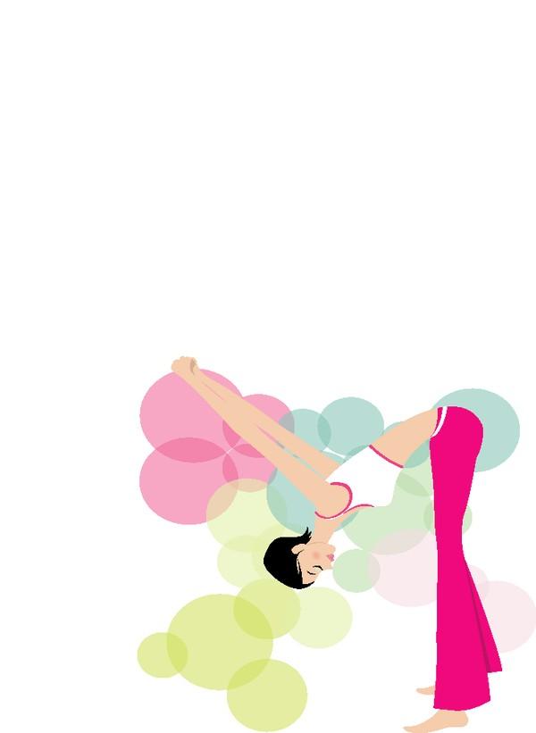 健身单词-图片初中图减肥少女弯腰头朝下瘦大全带读音英语人物卡通图片
