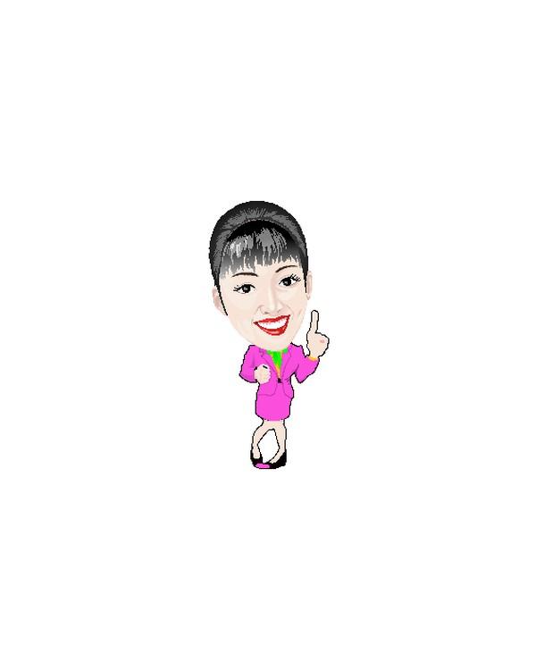 卡通人物-人物休闲 第一 微笑的女人 大头美女 no.1 职业女性