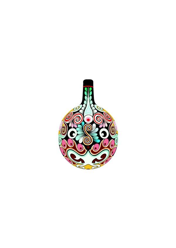 中国传统-马勺脸谱