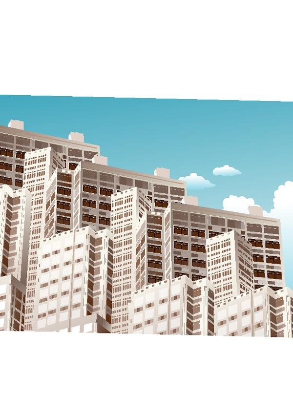 建筑风景图片-时尚卡通图