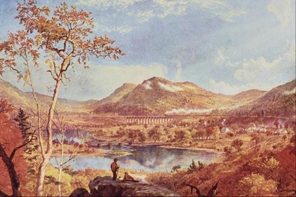 風景油畫圖片-國外傳世名畫圖
