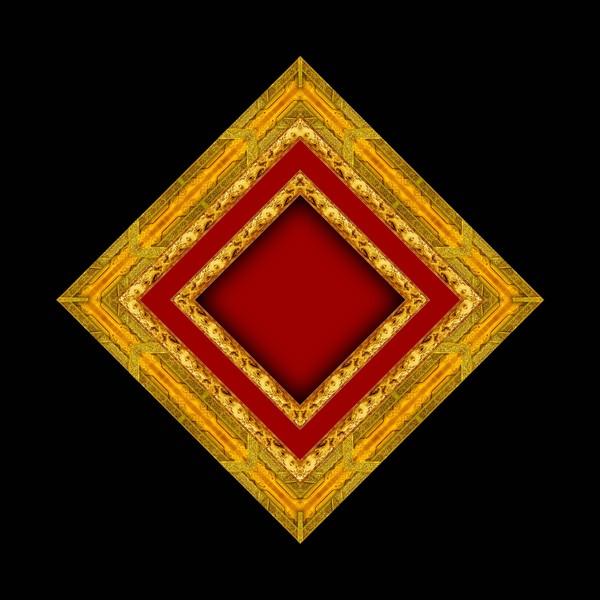 设计组件素材-古典小品 菱形 红心 木地板