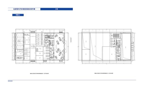 整套vi矢量素材-北京现代汽车 平面图 施工图纸 物件摆放