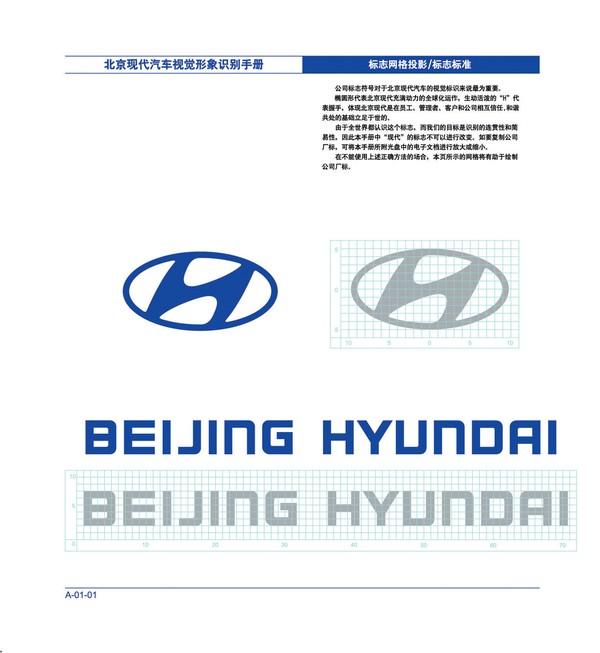 标志网格投影 标志标准 英文 北京现代汽车-整套vi矢量素材-整套vi