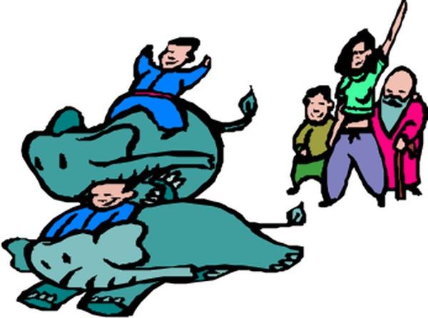 动物拟人化卡通