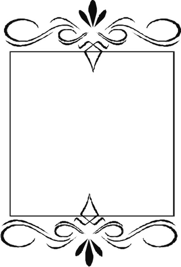 简单的黑白边框图片