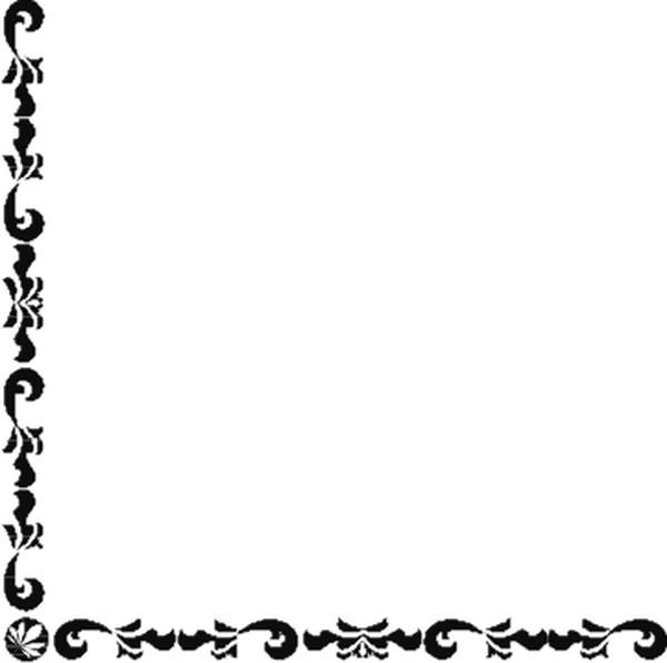 欧式黑白手抄报边框