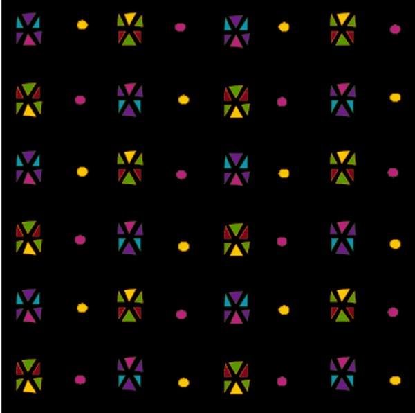 方形花纹图片-微章图案图