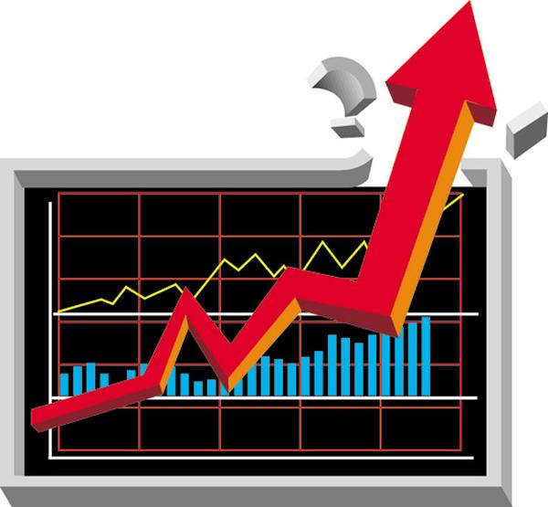 商务符号图片-商业金融图 股票 涨停 曲线,商业