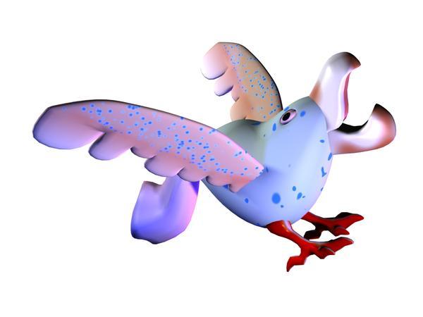 飞翔 五颜六色 3d动物图案-漫画卡通-漫画卡通
