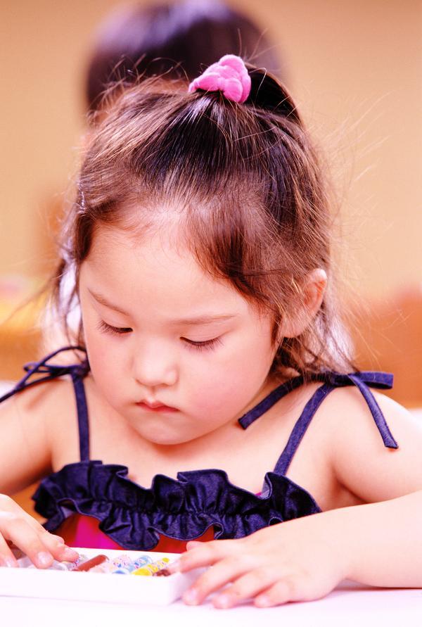 胖嘟嘟 蜡笔 可爱 儿童学习-人物-人物,儿童学习
