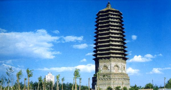 宝塔 高耸入云 蓝天 北京名胜-中国图片-中国图片,北京名胜 北京通州