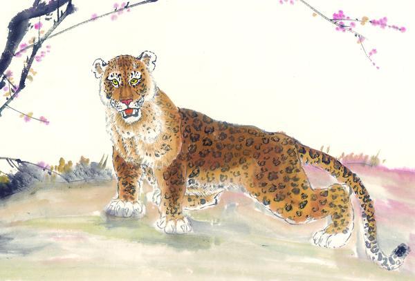中国动物画图片-山水名画图