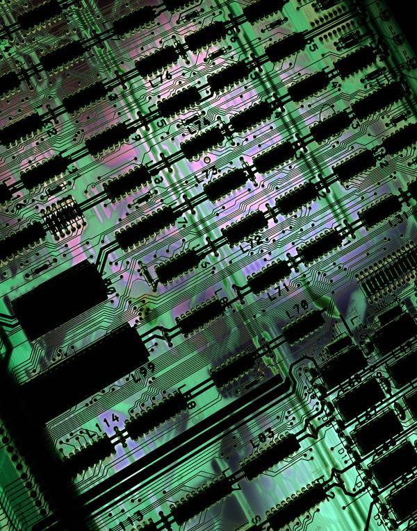 板卡芯片图片-科技图 集成电路