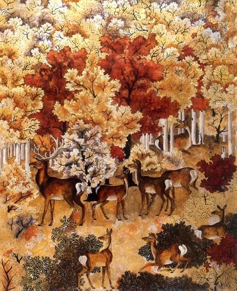 动物画图片-墙饰画图,墙饰画,动物画