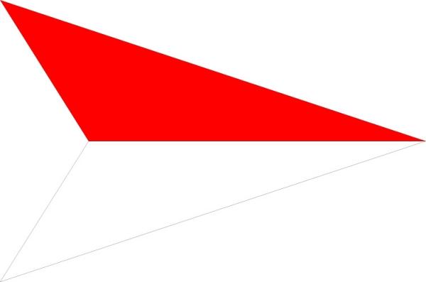 红色三角形 方向标识-标识图形-标识图形