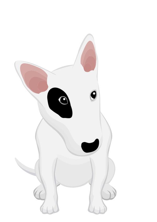 动物插图图片-动物图 可爱狗狗