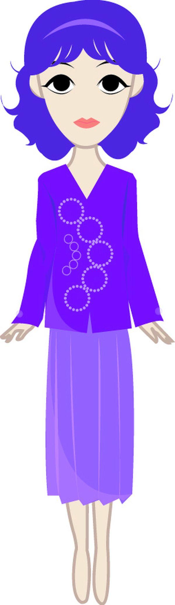 蓝色 裙子 休闲装 人物休闲-标题插画-标题插画篇,人物休闲