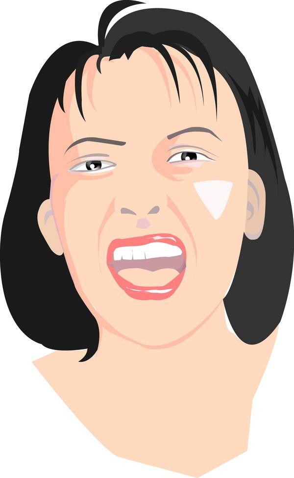 流行时尚图片-标题插画图 张嘴