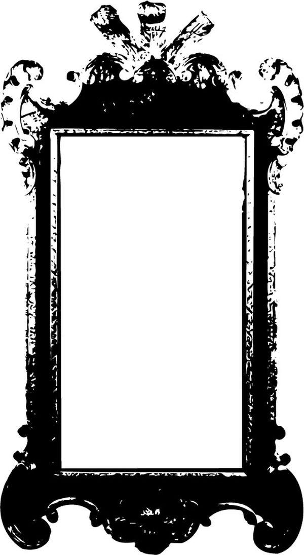 黑色 长方形 边框 拓印-古典艺术-古典艺术篇,拓印