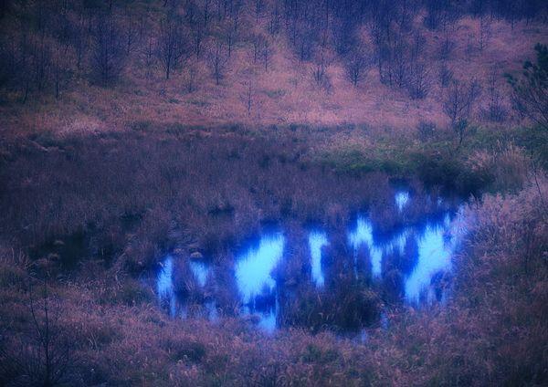 自然风景-山河湖海 蓝色 深潭 神秘