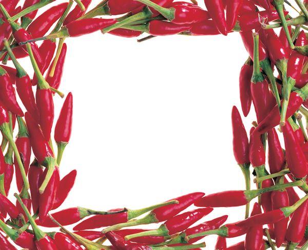 底纹背景-花式边框 辣椒 红色 调味品
