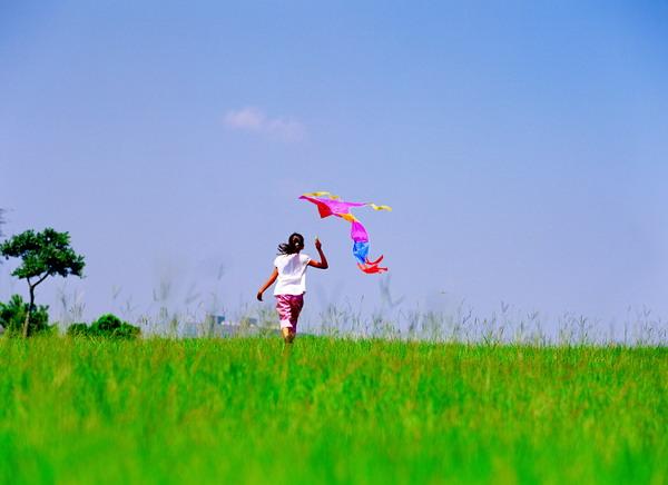 放风筝 梦想 草地 欢快 执着 儿童派对-人物-人物,儿童派对