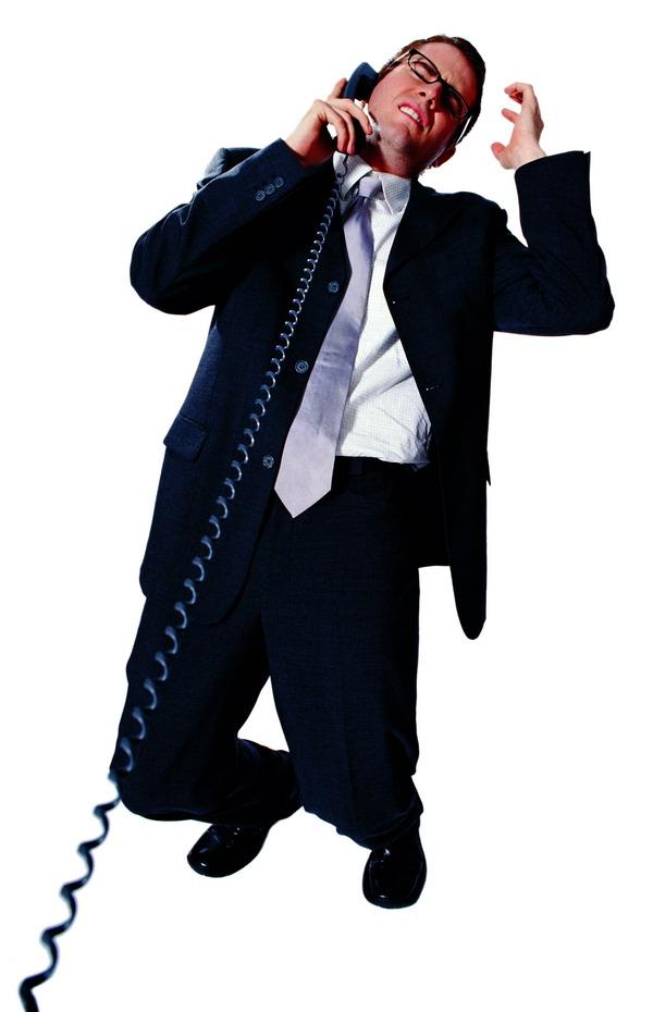 上班族图片-喇叭图人物打电话在骂人抓头发拿图片着搞笑老外的图片