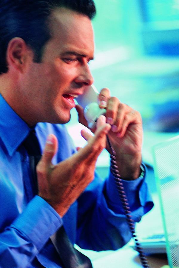 商业金融-金融商业 办公室 接电话 话务员 手势 侧面 人物 ...