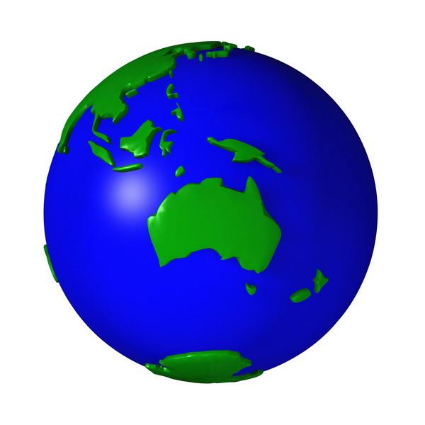 地球集锦图片-科技图 澳大利亚 大洋洲 海岛 塑