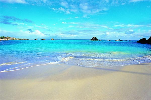 沙滩大海图片-自然风景图 蓝天 大海 沙滩 ,自然风景
