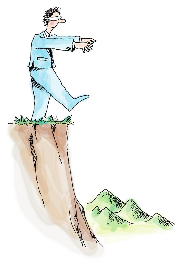 人物漫画图片-广告创意图悬崖人物画漫画,广告