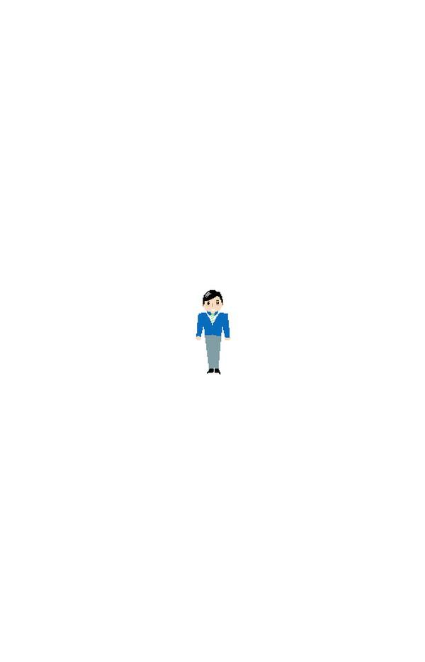 西装笔挺 站立男人 微笑男人 卡通图片 小人 人物休闲-卡通人物-卡通