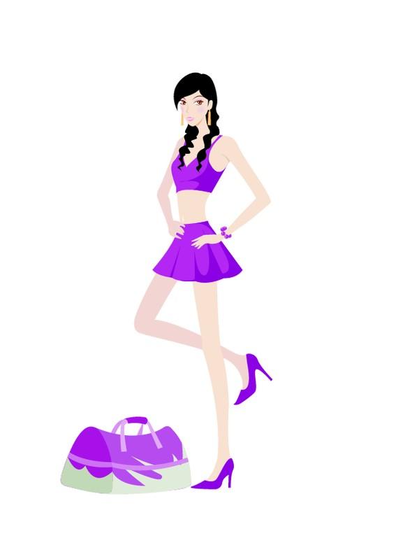 紫色服装 时尚装