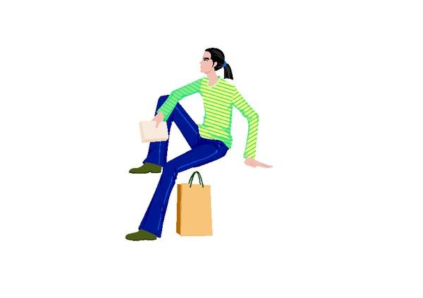 抬脚 坐姿 模特 杂志 注视 流行时男-卡通人物-卡通人物,流行时男