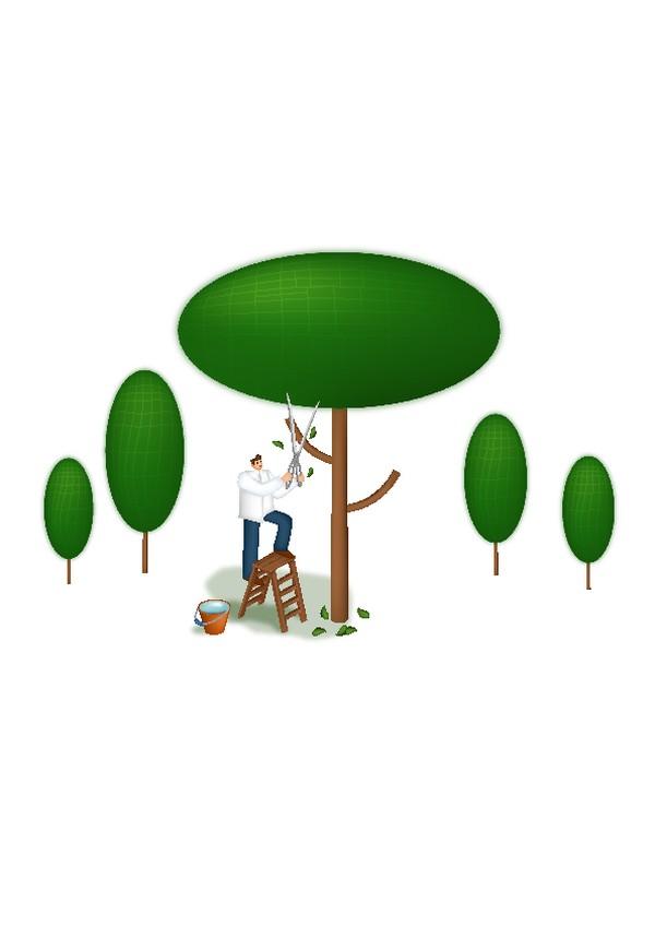 绿色卡通人物图片