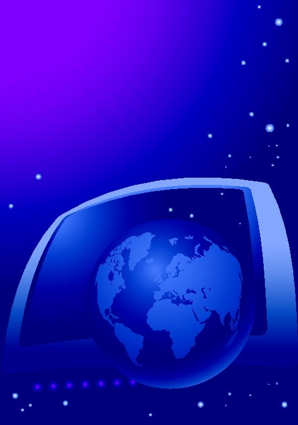 蓝色球体 版图 矢量背景素材-底纹-底纹,矢量背景素材