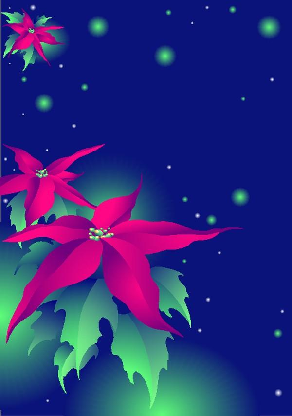 红花 矢量背景素材-底纹-底纹,矢量背景素材