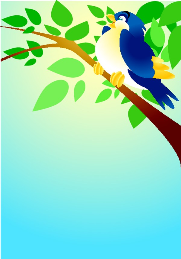 树枝 一只鸟 矢量背景素材-底纹-底纹,矢量背景素材