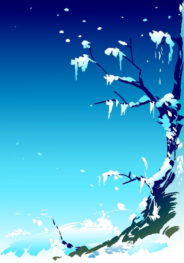 雪地 堆积 枯枝 矢量背景素材-底纹-底纹,矢量背景素材