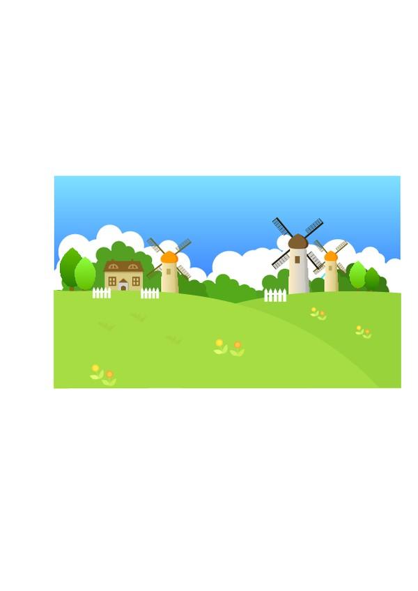 外界风景图片-时尚卡通图 风车