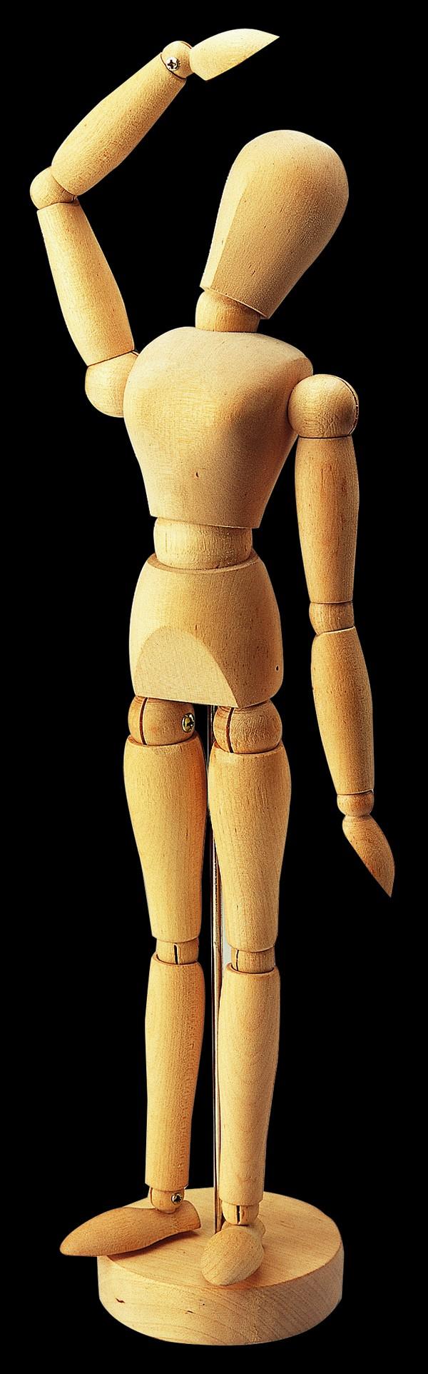 木头人图片-静物图 挥手