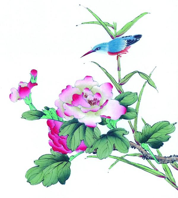 工笔花鸟-中国国画-中国国画